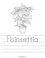 Poinsettia Handwriting Sheet