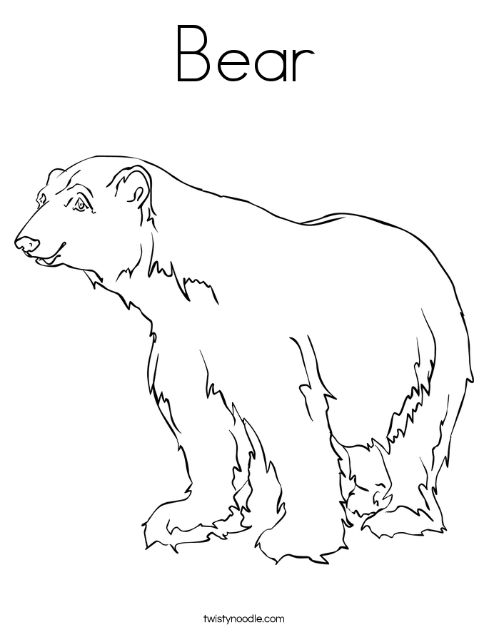 91 Bear Hunt Coloring Page