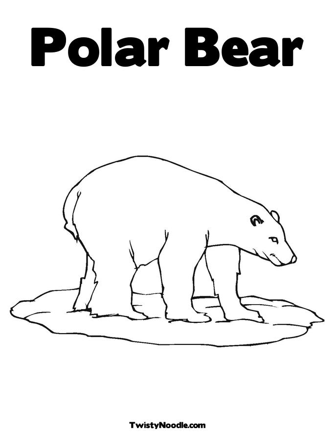 Christmas Polar Bear Coloring Pages - HiColoringPages