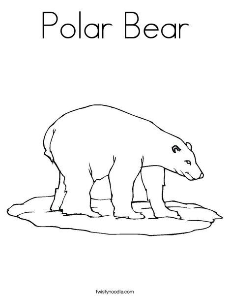 Elegant Polar Bear Coloring Page