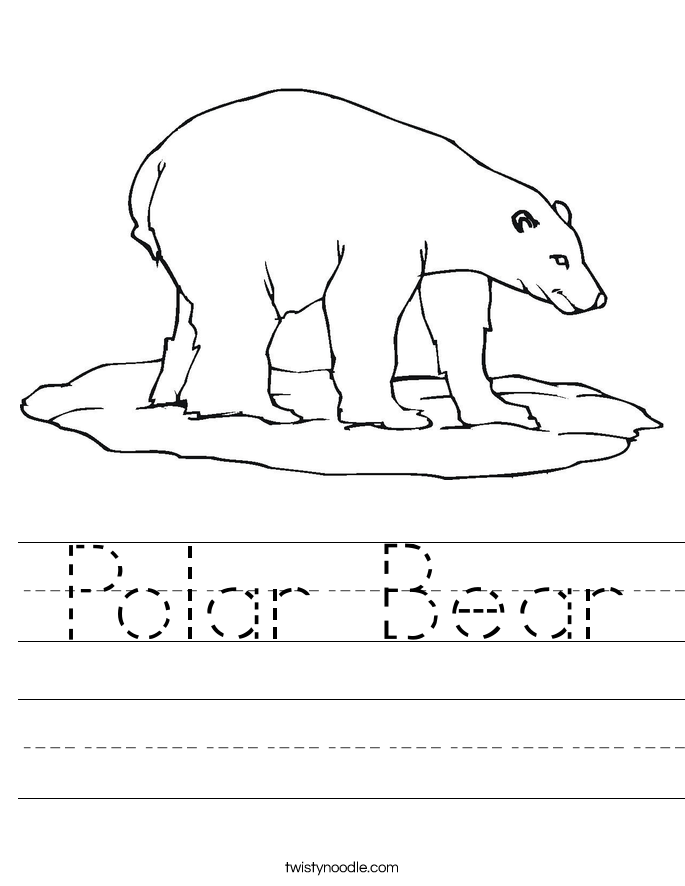 Polar Bear Worksheet - Twisty Noodle