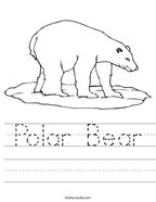 Polar Bear Handwriting Sheet