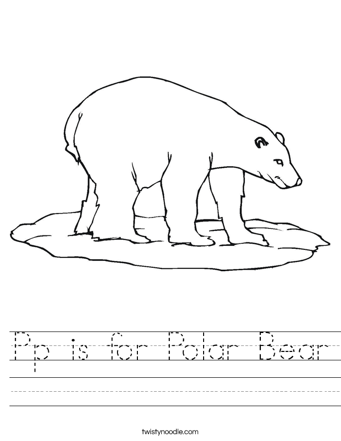 Pp is for Polar Bear Worksheet