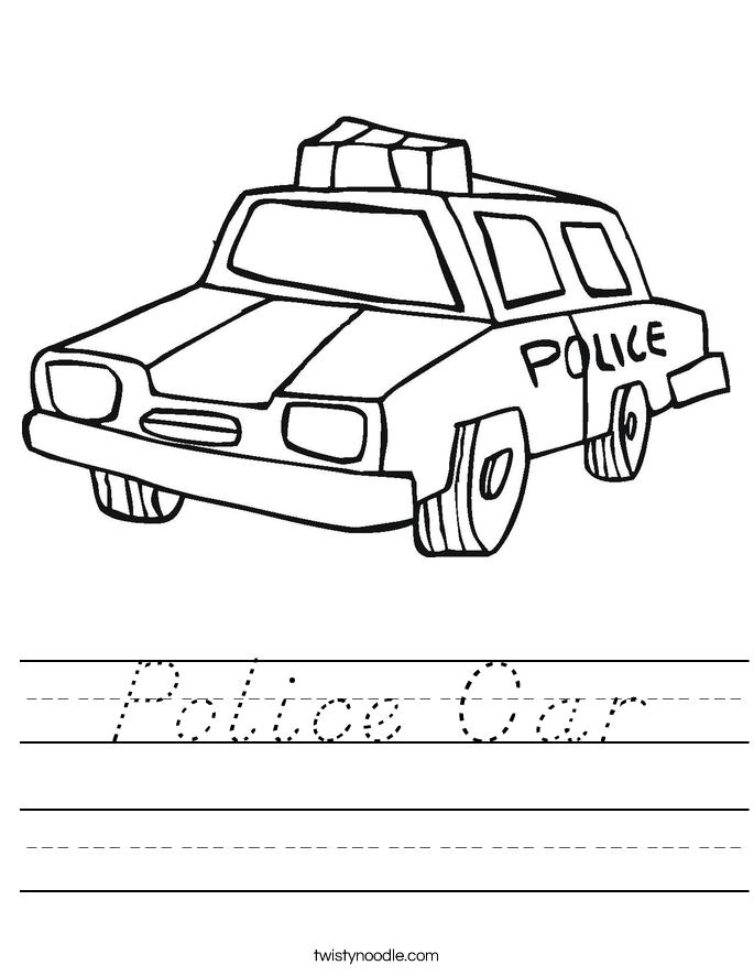Police Car Worksheet