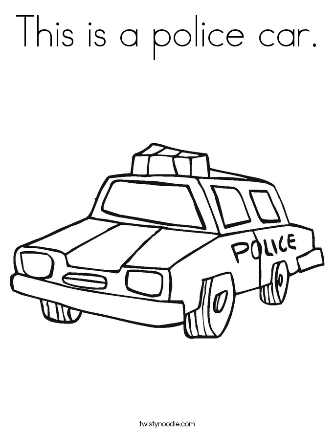 This is a police car. Coloring Page