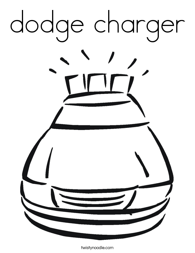 dodge charger Coloring Page