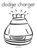 dodge chargerColoring Page