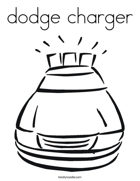 dodge charger Coloring Page - Twisty Noodle