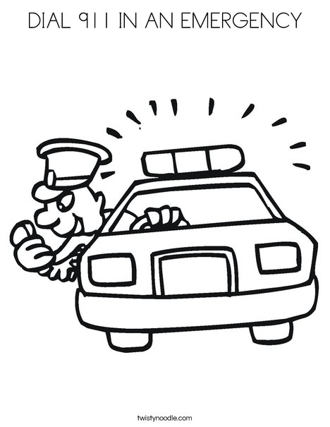 telephone 911 coloring pages - photo#30