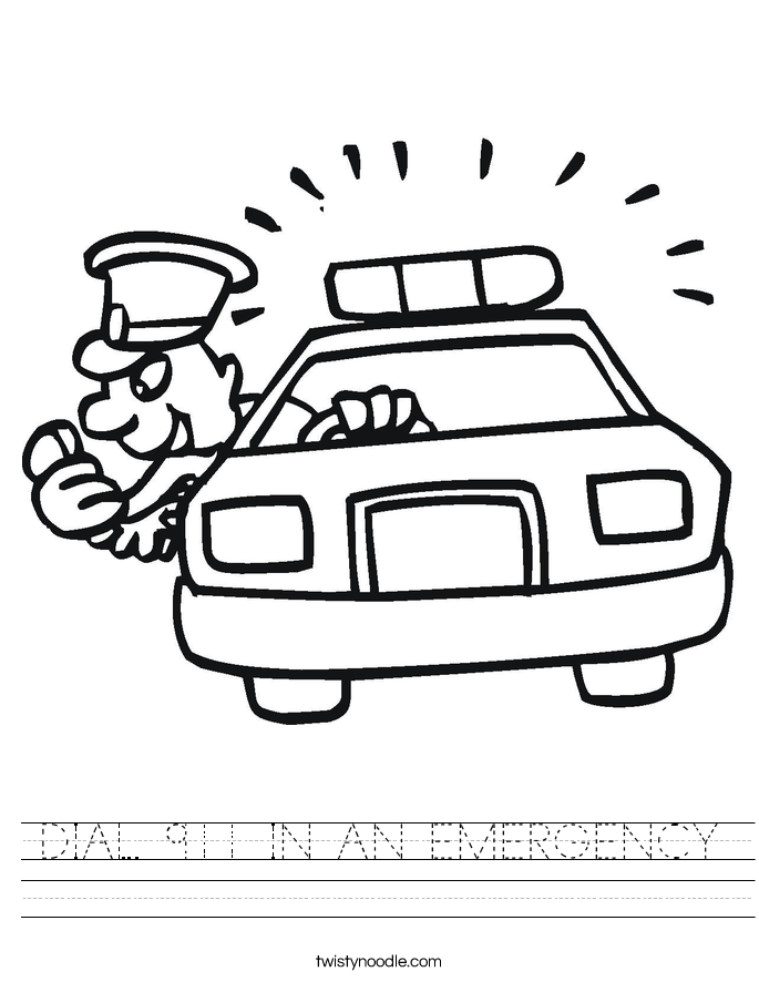 DIAL 911 IN AN EMERGENCY Worksheet