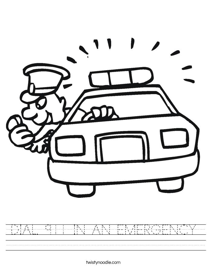 DIAL 911 IN AN EMERGENCY Worksheet