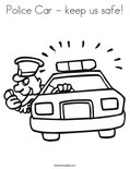 Police Car - keep us safe! Coloring Page