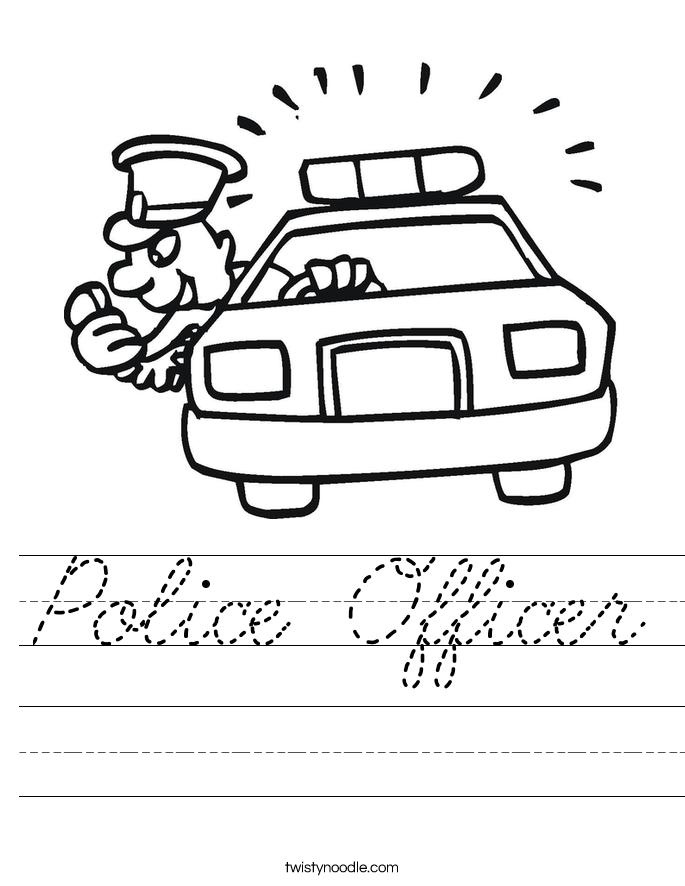 Police Officer Worksheet