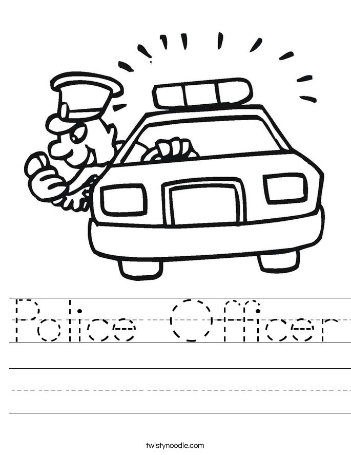 Police Officer Worksheet