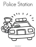 Police StationColoring Page