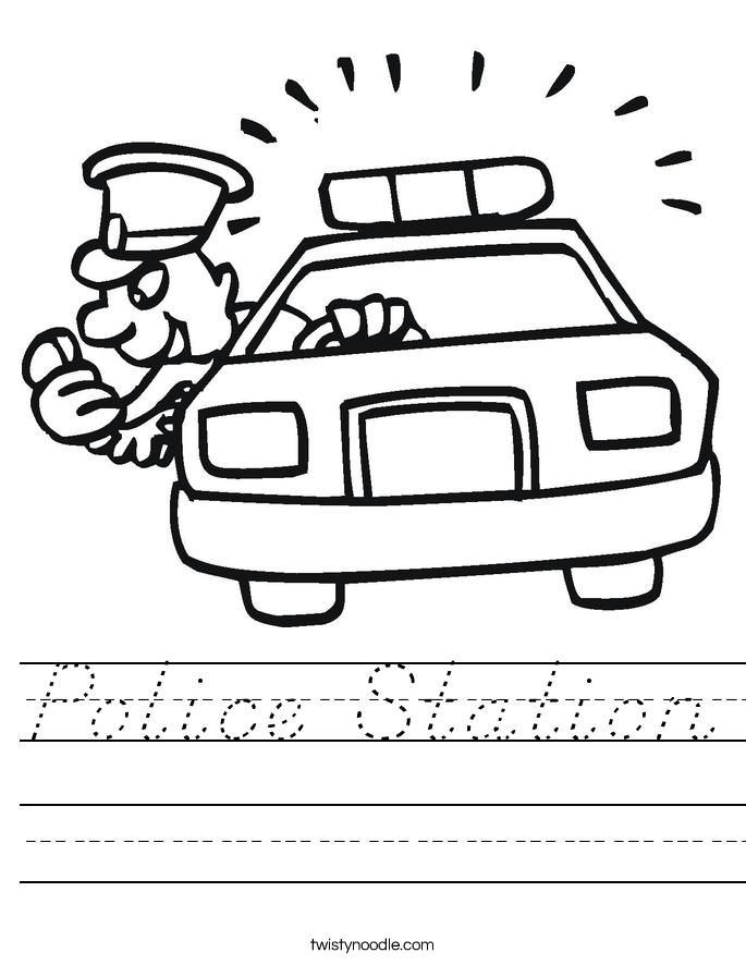 Police Station Worksheet