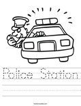 Police Station Worksheet