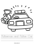 Policeman and Police Car Worksheet