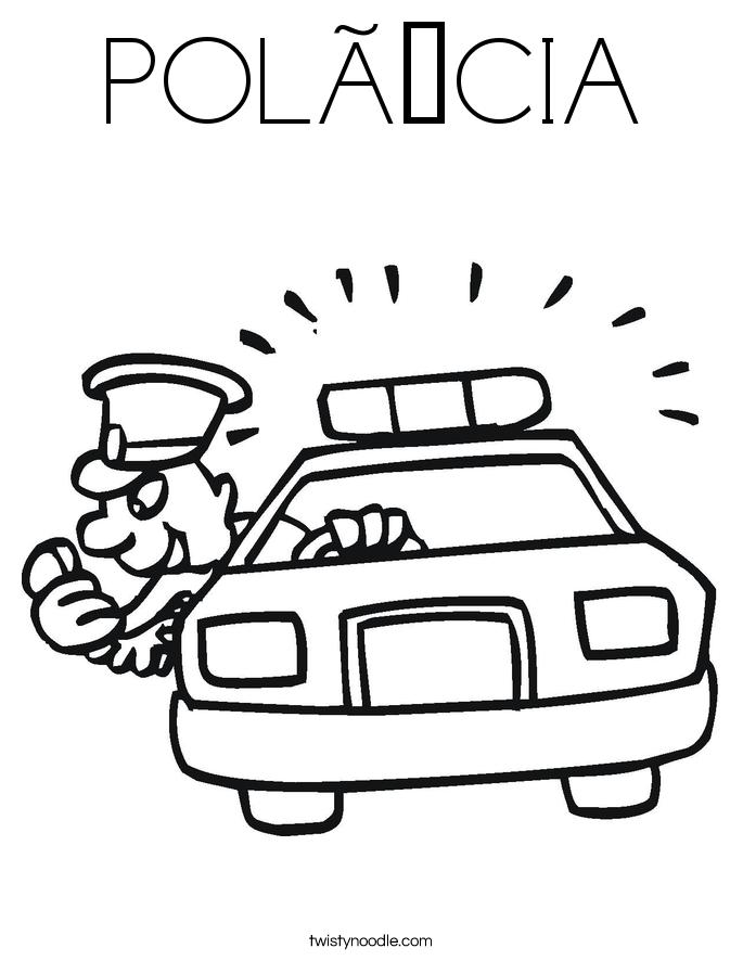 POLÍCIA Coloring Page