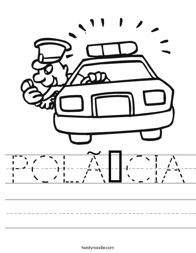 POLÍCIA Worksheet