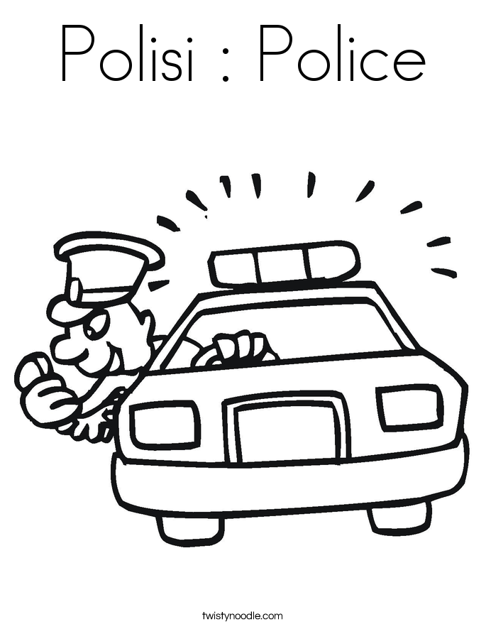Polisi : Police Coloring Page