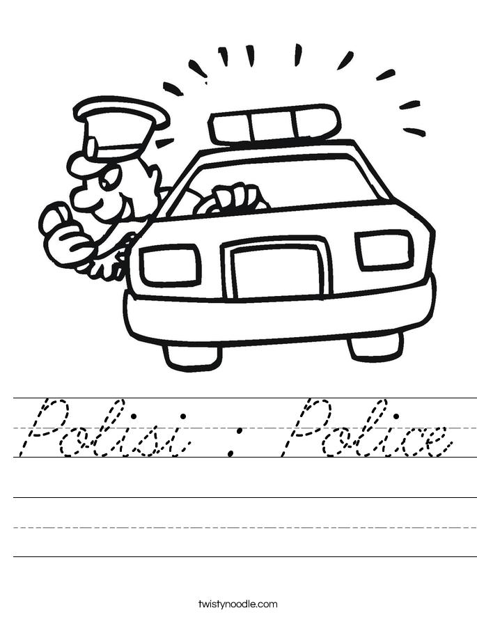 Polisi : Police Worksheet