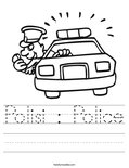 Polisi : Police Worksheet