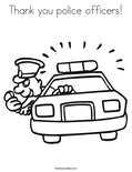 Thank you police officers!Coloring Page