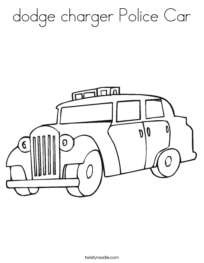 dodge charger Police Car Coloring Page