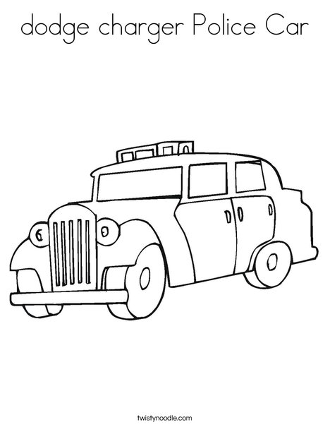 dodge charger Police Car Coloring Page - Twisty Noodle