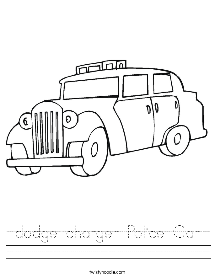 dodge charger Police Car Worksheet