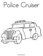 Police Cruiser Coloring Page