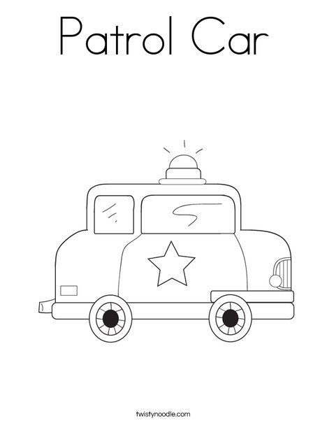 Patrol Car Coloring Page