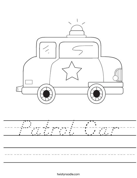 Patrol Car Worksheet