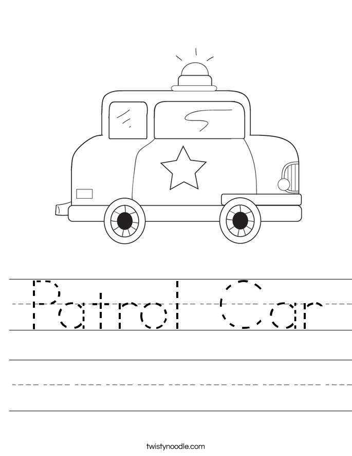 Patrol Car Worksheet