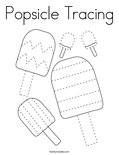 Popsicle Tracing Coloring Page