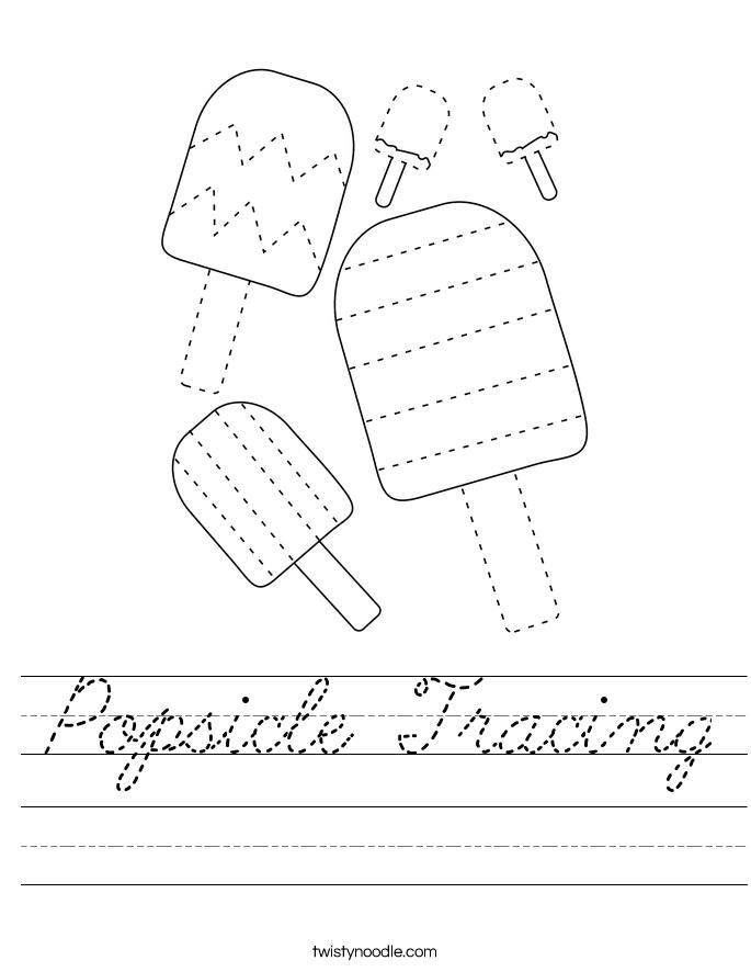 Popsicle Tracing Worksheet