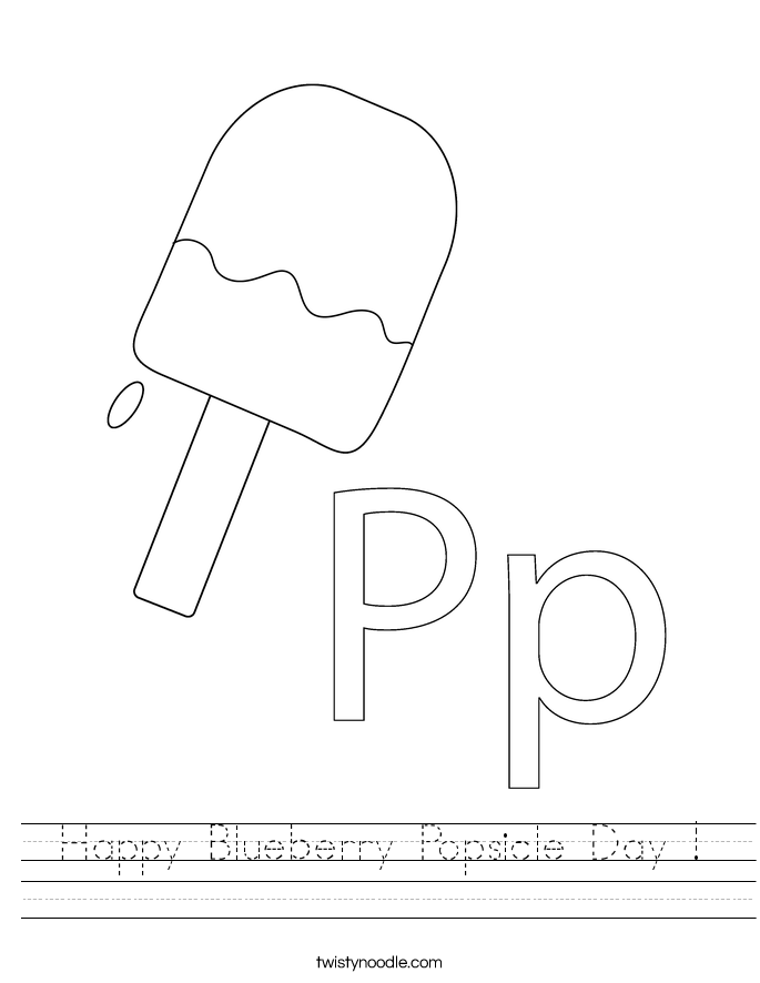 Happy Blueberry Popsicle Day ! Worksheet