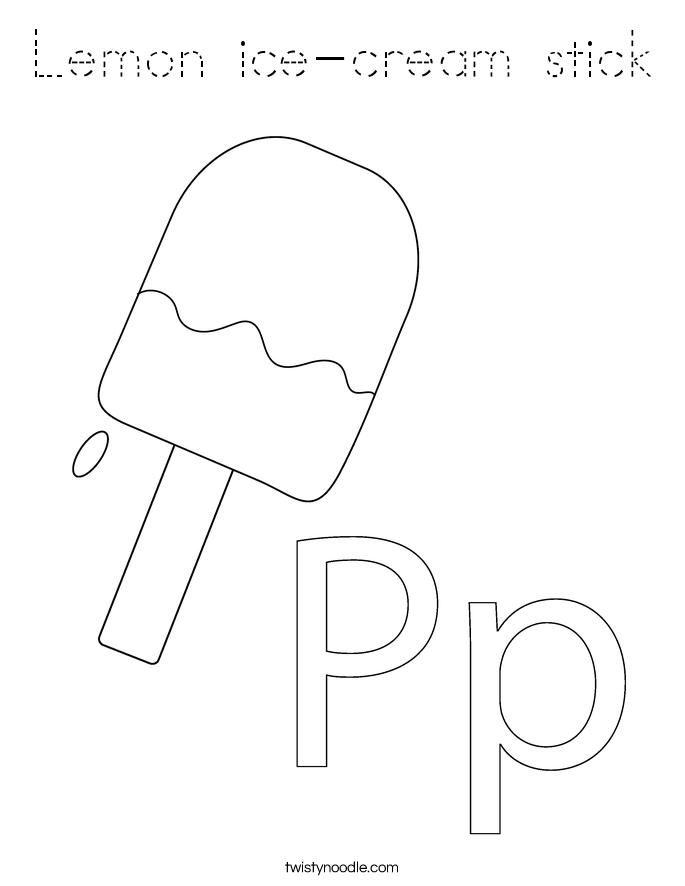 Lemon ice-cream stick Coloring Page