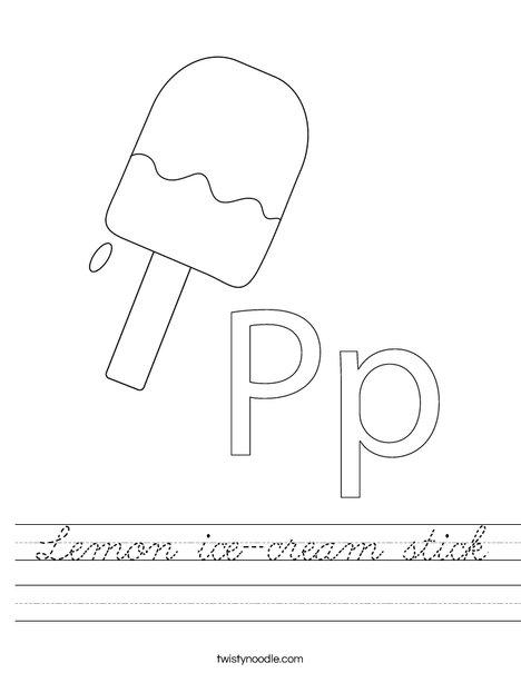 Popsicle Worksheet