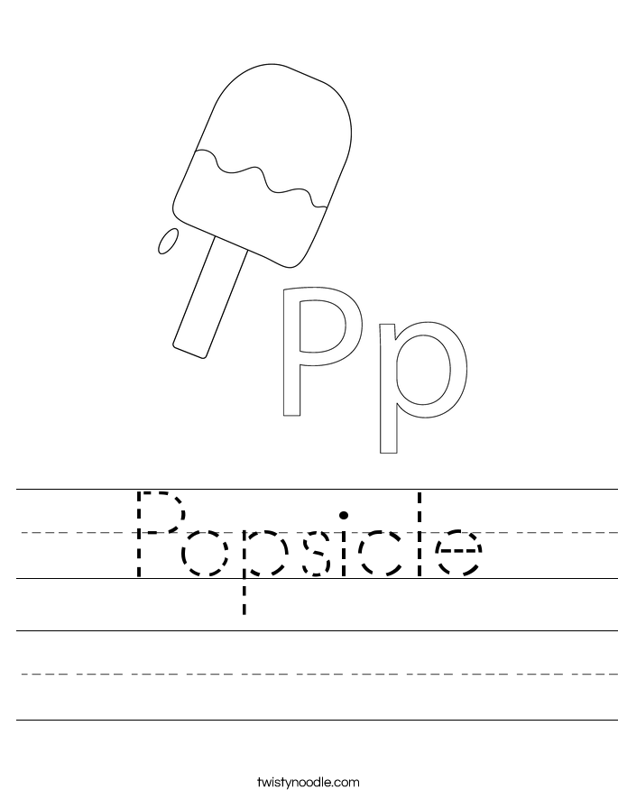 Popsicle Worksheet