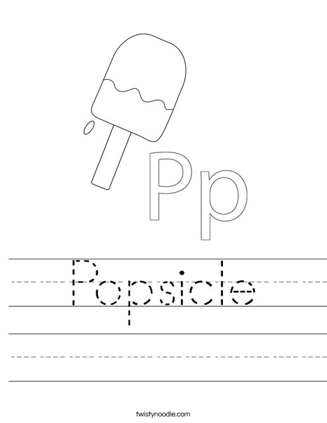 popsicle coloring page auromas cartoon