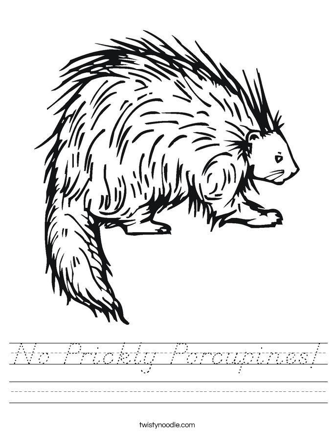 No Prickly Porcupines! Worksheet