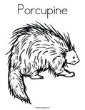 PorcupineColoring Page