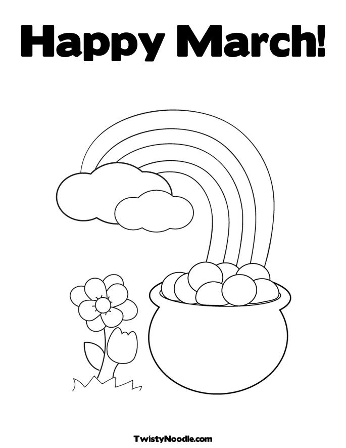 march flower coloring pages - photo#11