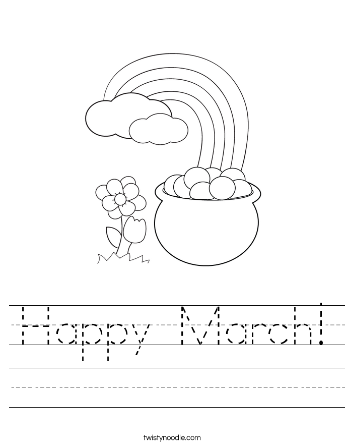 Happy March! Worksheet