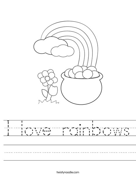 Pot of Gold at the End of a Rainbow Worksheet