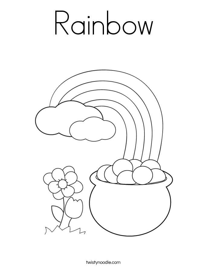Rainbow Coloring Page - Twisty Noodle
