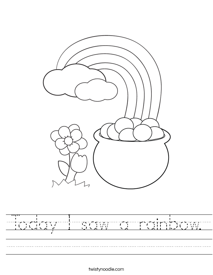 Today I saw a rainbow. Worksheet