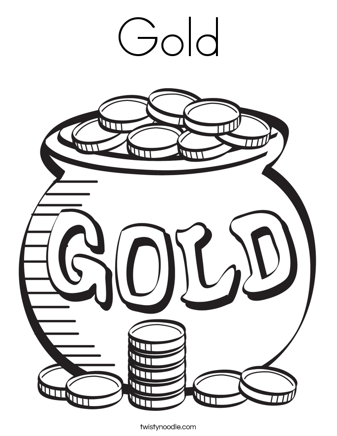 Gold Coloring Page